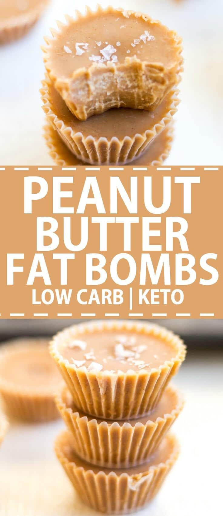 chocolate peanut butter fat bombs