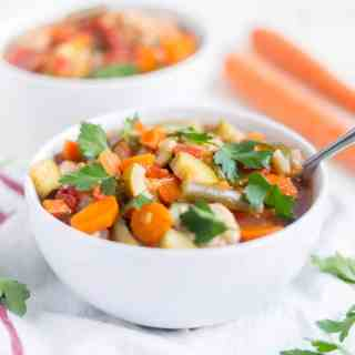 Turkey Vegetable Low Carb Soup