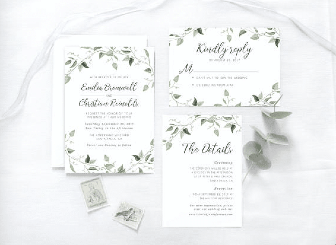 Wedding Invitation Picture Ideas: Wedding Invitation Tips And 10 Greenery Wedding Invitation