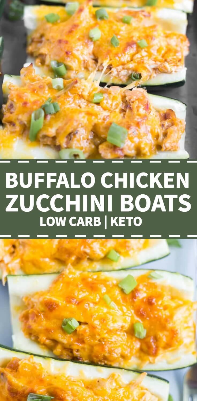 buffalo chicken zucchini boat recipe