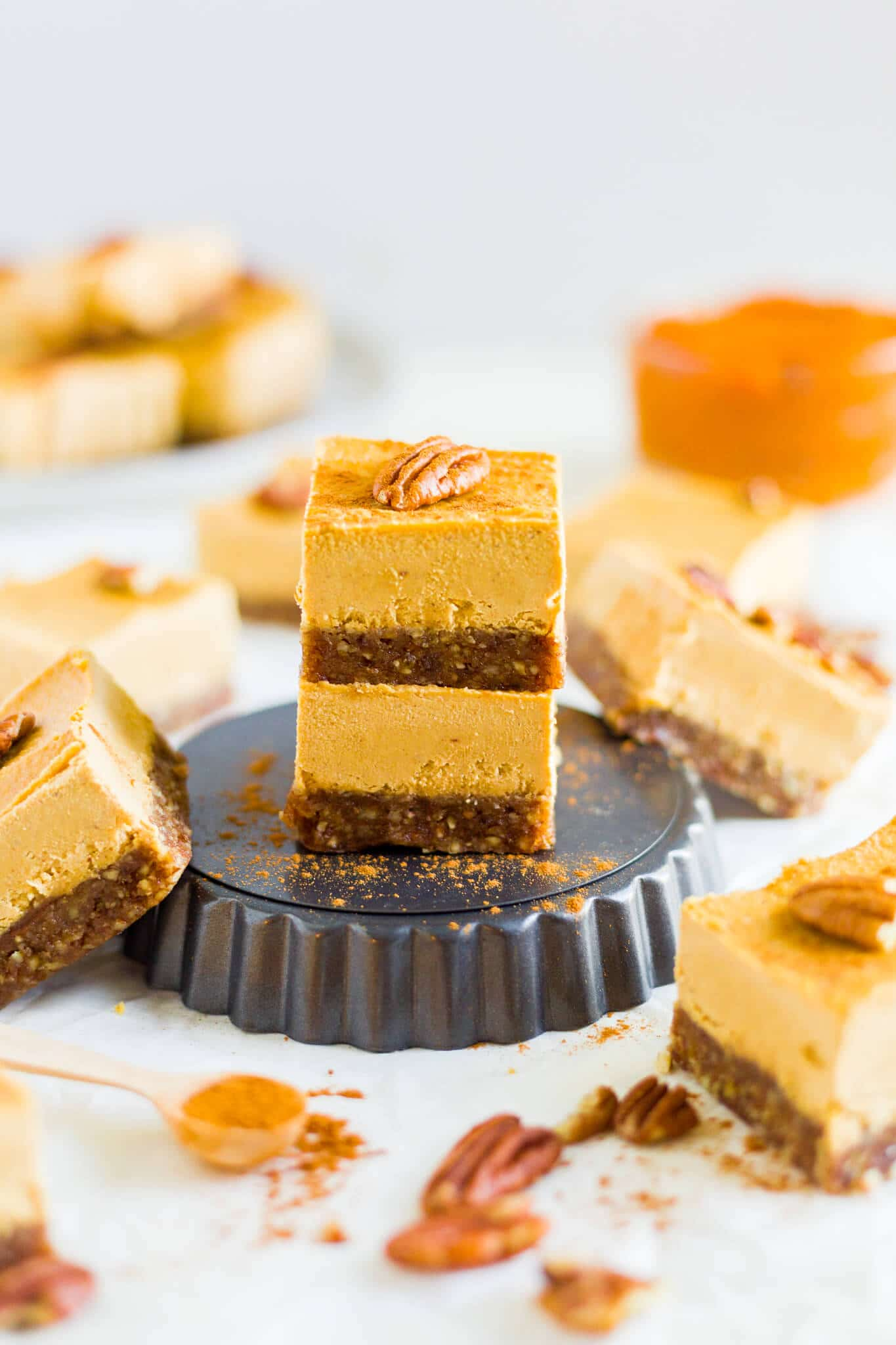 easy vegan pumpkin cheesecake
