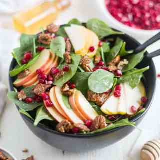 Autumn Pear Salad with Candied Pecans