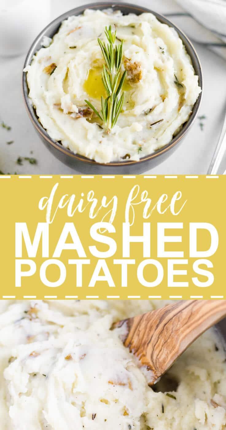 dairy free mashed potatoes pin