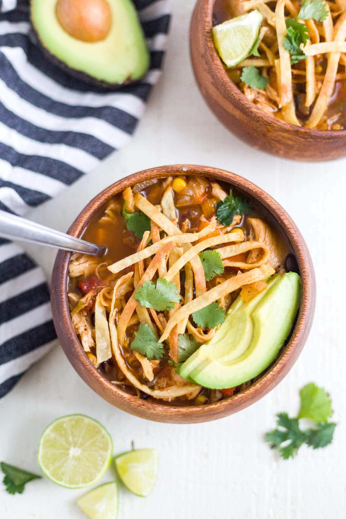 chicken tortilla soup slow cooker