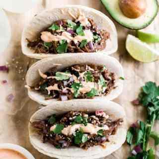 shredded beef tacos