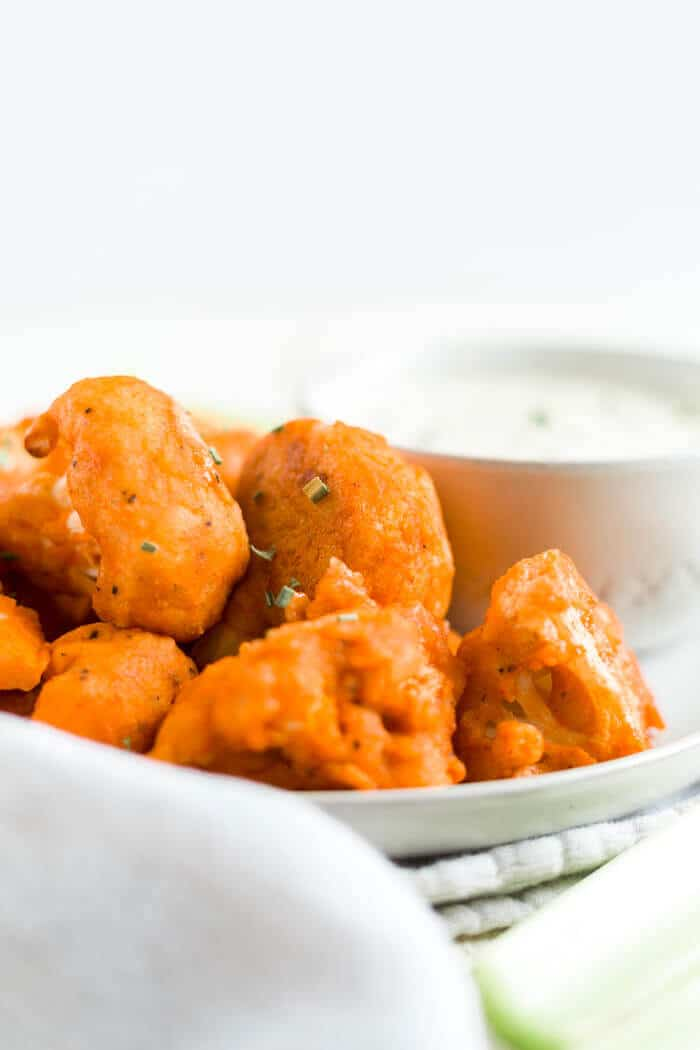 cauliflower buffalo wings without flour