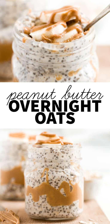 peanut butter overnight oats pin