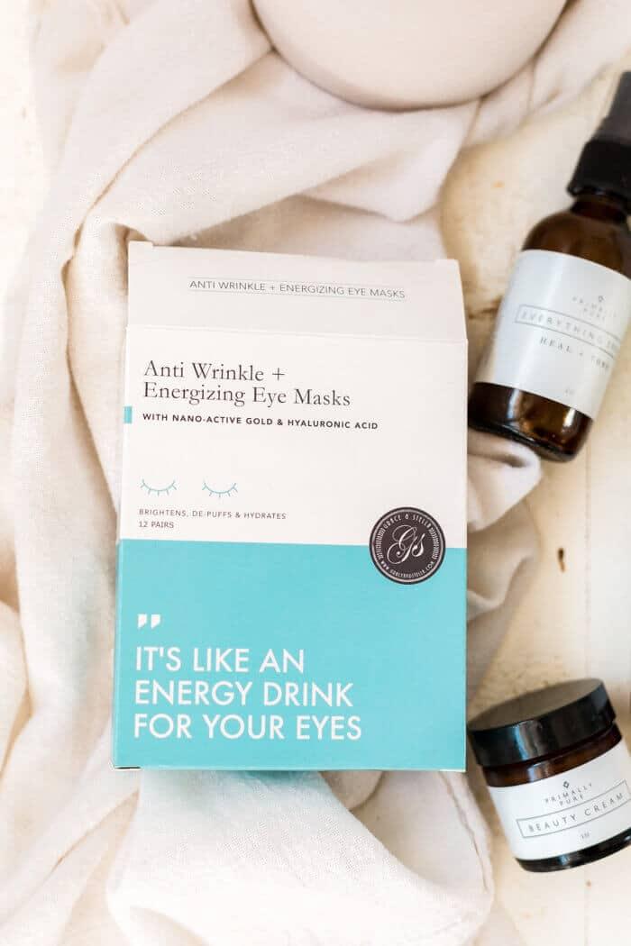 closeup of all natural anti aging eye masks