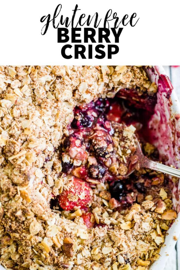 gluten free berry crisp recipe