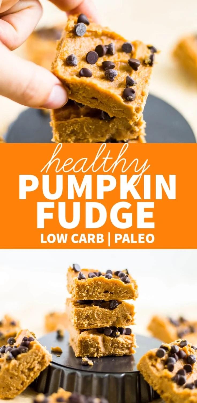 healthy keto pumpkin fudge