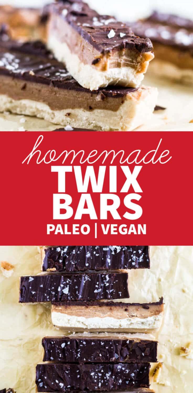 healthy homemade twix bars