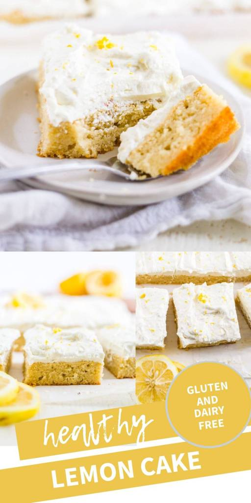 collage of lemon cake pictures with a text overlay