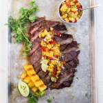 Grilled Flank Steak with Pineapple Salsa