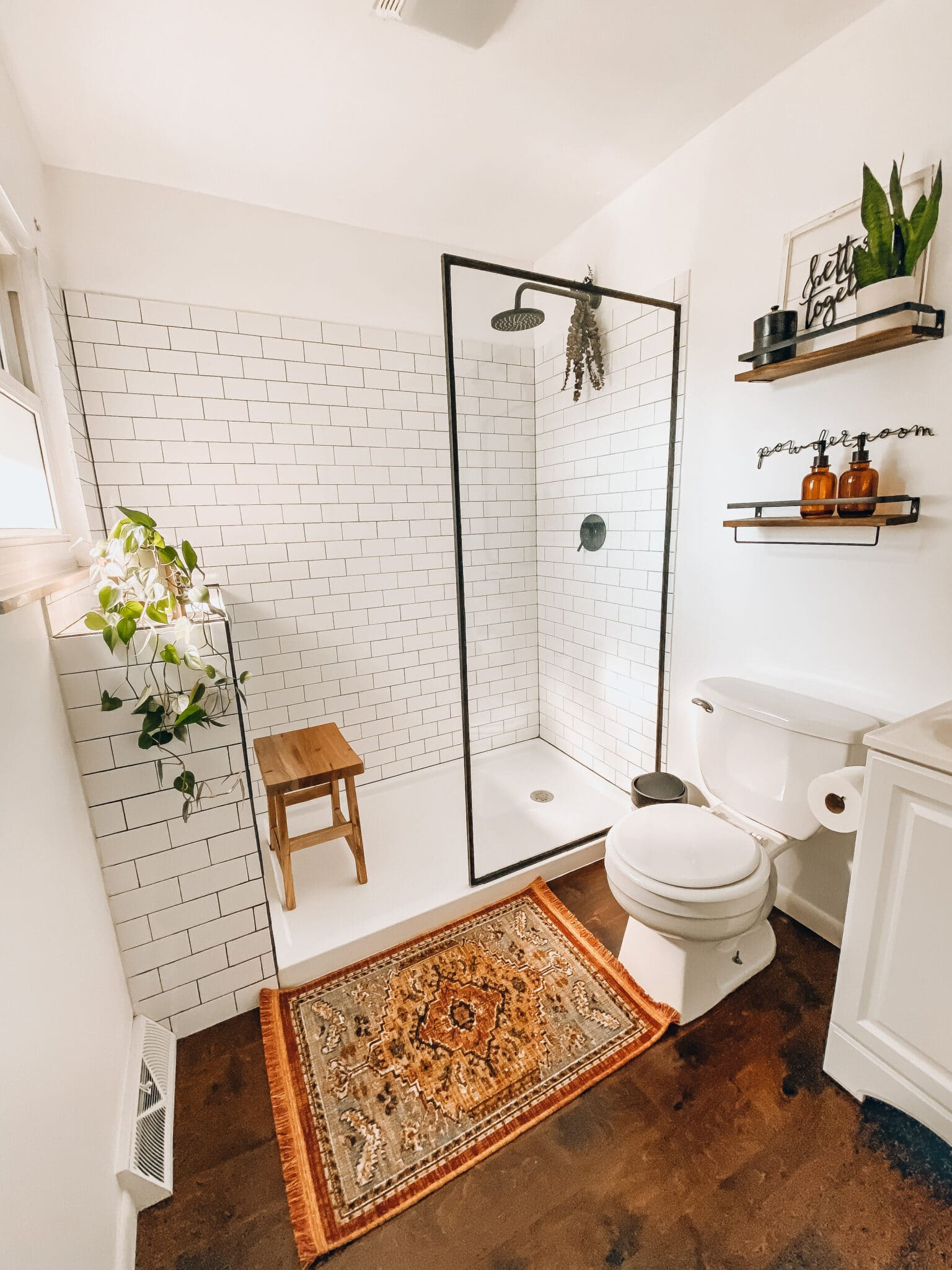 Modern Farmhouse Bathroom Remodel | What Molly Made on Modern Farmhouse Shower  id=24875