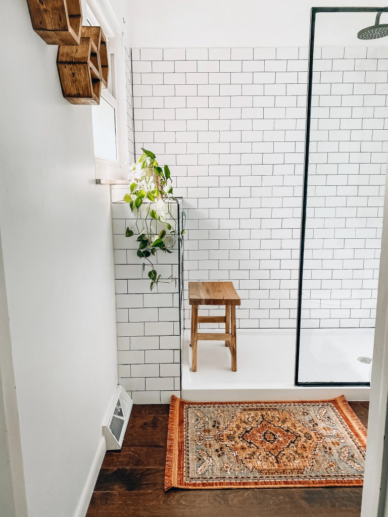 Modern Farmhouse Bathroom Remodel What Molly Made