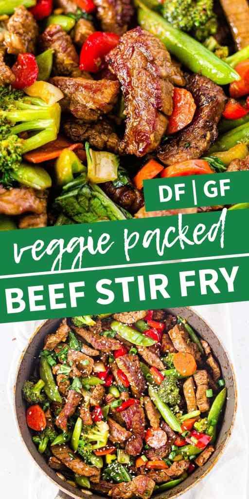 veggie packed steak stir fry pin