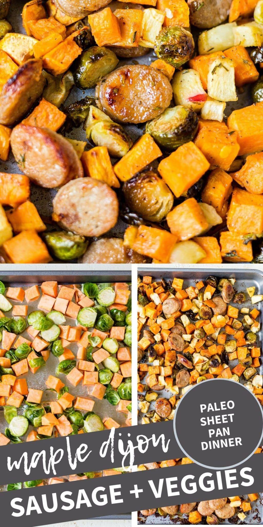 roasted maple dijon sausage and veggies pin