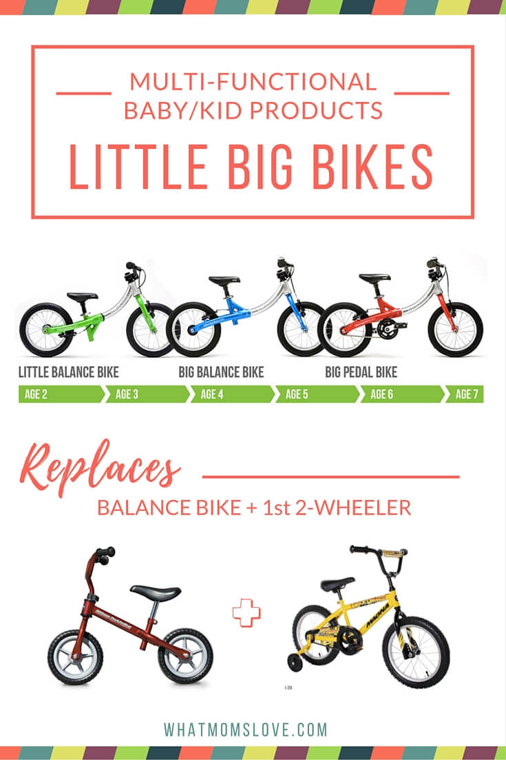 LittleBig Bikes - a convertible bike that will grow with your child.