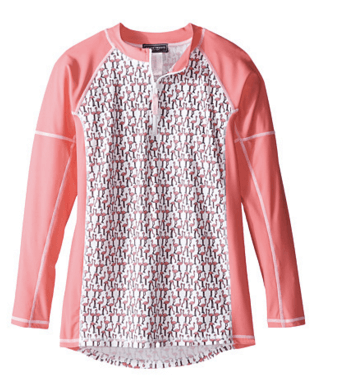 Toobydoo Girls' Flamingo Long Sleeve Rashguard