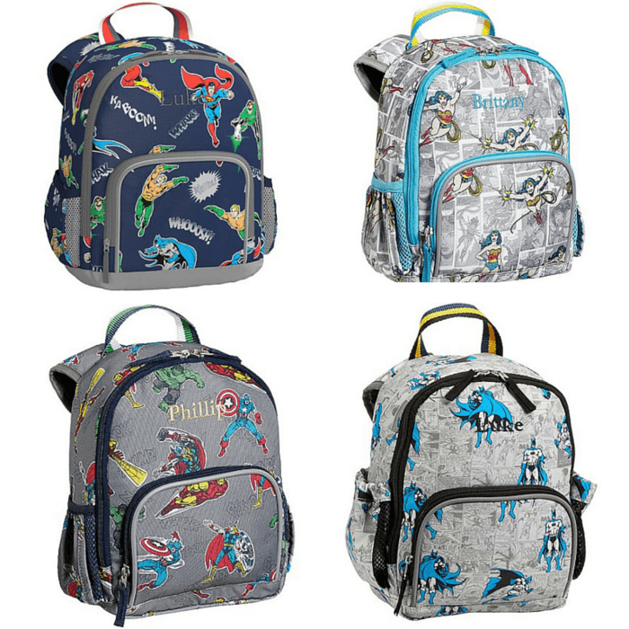 Pottery Barn Kids PreK Superhero Backpacks