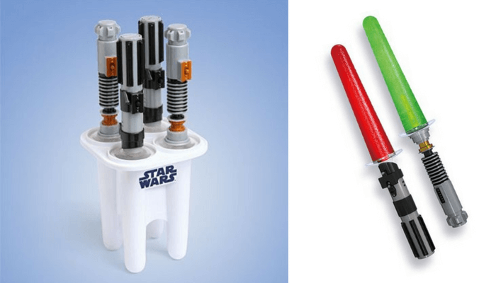 Products to Make Eating Fun for Kids. How to Get Picky Eaters to Try New Foods. Star Wars Glowing Lightsaber Ice Pop Maker by ThinkGeek.