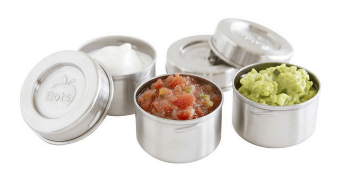 LunchBots Tiny Leak Proof Dips Condiment Containers, 1.5-Ounce, Set of 3