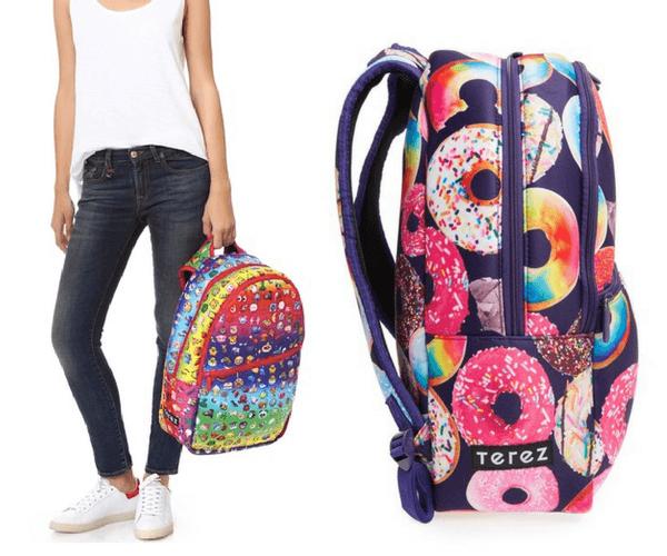 Zara Terez - Rainbow Emoji and Donut Neoprene Backpacks