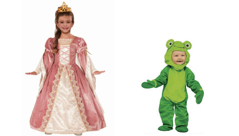 Creative Halloween Costumes for Siblings - Princess and Frog