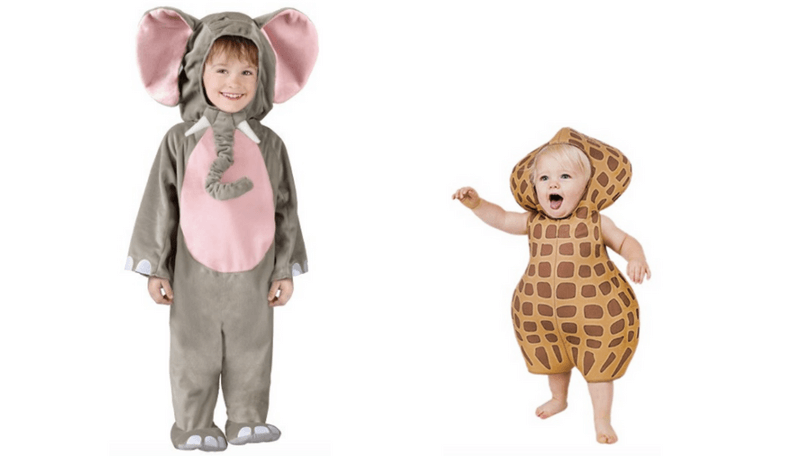 Creative Halloween Costumes for Siblings - Elephant and Peanut