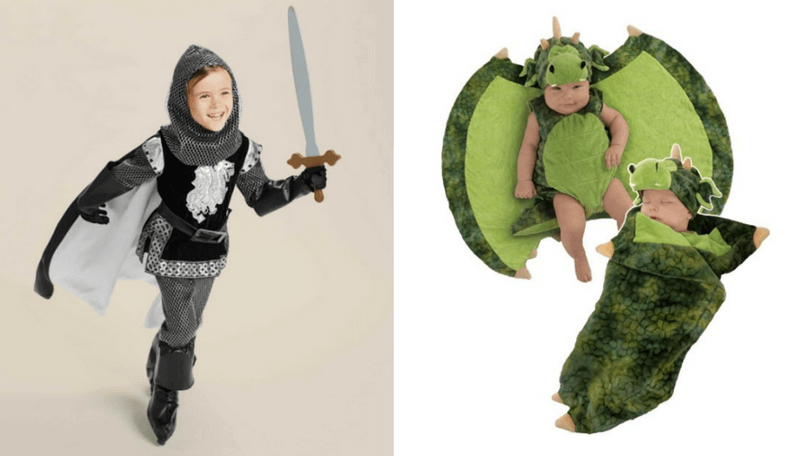 Creative Halloween Costumes for Siblings - Knight and Dragon