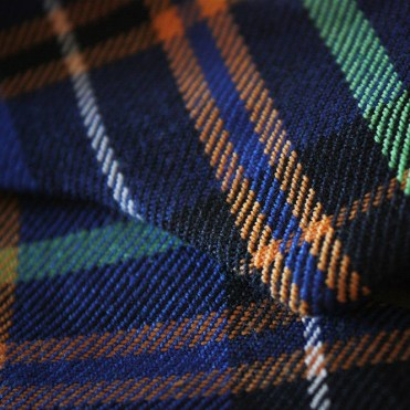 Blue-cotton-plaid-bow(close-up)