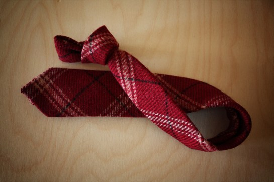 Red-wool-plaid-tie