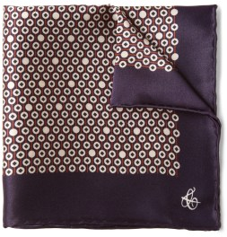 CANALI PRINTED SILK POCKET SQUARE