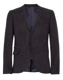 NAVY FLECK SKINNY SUIT JACKET