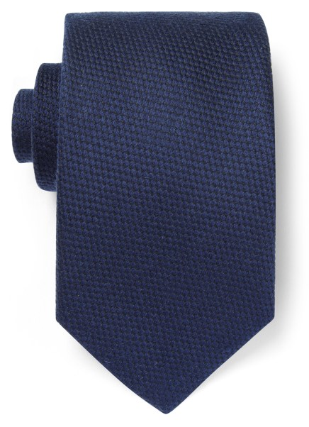 Viyella Navy Textured Wool-Mix Tie