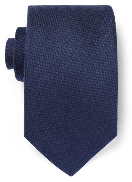 Viyella Navy Textured Wool-Mix Tie