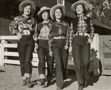 Women loved denim in the 1930s West. These cowgirls, representing a California rodeo, proudly sport their Levi's® jeans