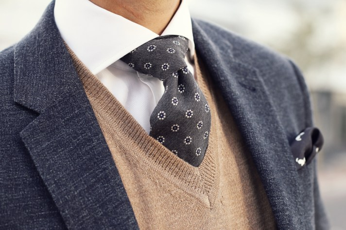 tie-and-knit-detail