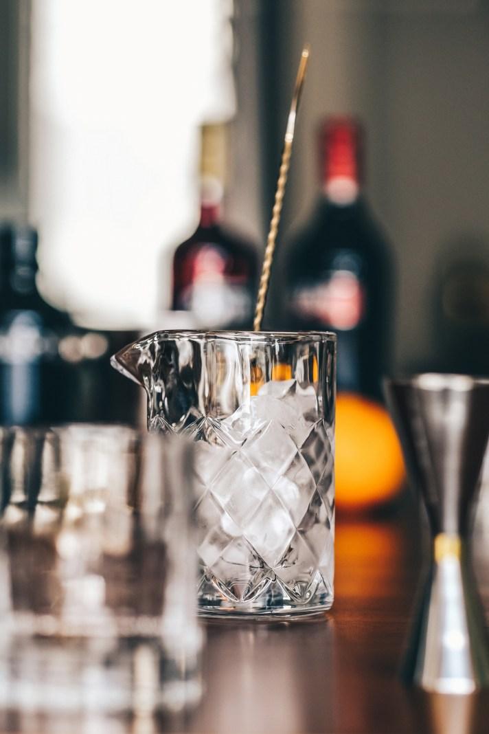 Negroni---empty-stirring-glass-and-stirring-spoon