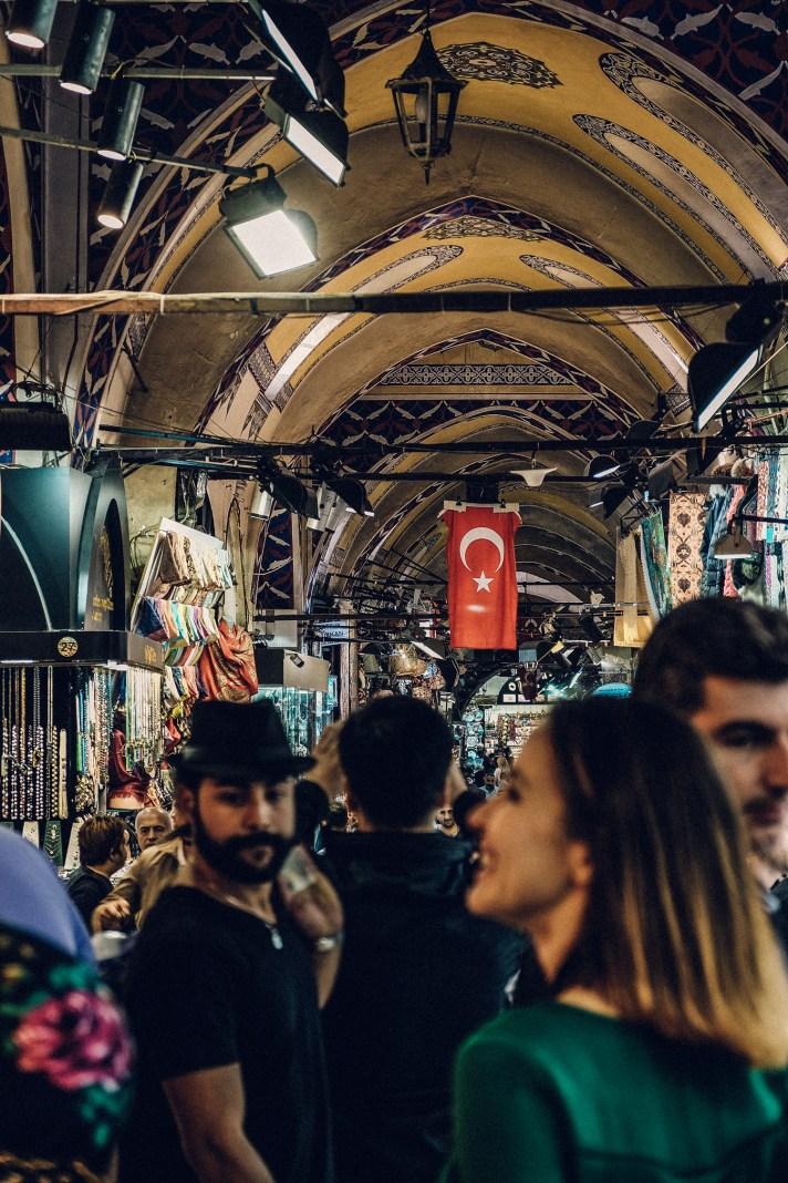 Istanbul-Grand-Bazaar-Turkish-Flag