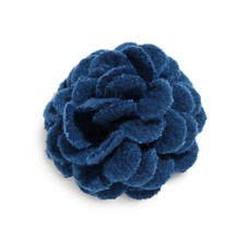 Navy lapel flower