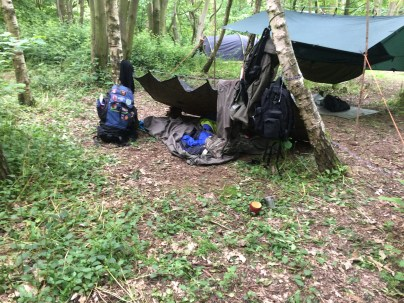 Our shelter for the weekend