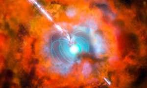 Wyjątkowo silny rozbłysk gamma po eksplozji egzotycznej gwiazdy