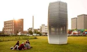 Największy wolnostojący filtr powietrza