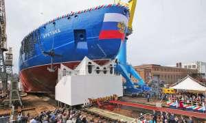 Rosja prezentuje swojego najpotężniejszego lodołamacza z napędem atomowym