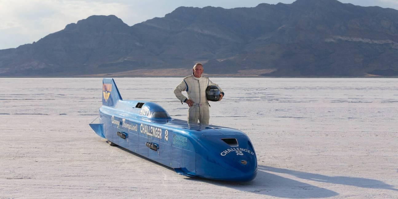 Challenger, Challenger 2, MIke, Thompson, 450 mil na godzinę rekord, prędkość, pojazd, samochód