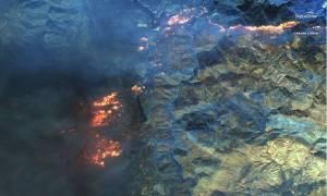 Zdjęcia satelitarne pokazują skalę pożarów w Kalifornii