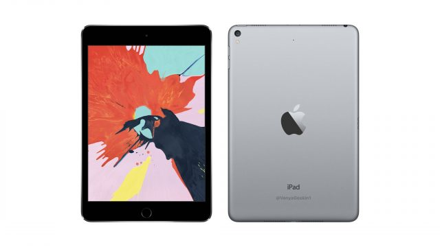 iPad Mini 5, apple iPad Mini 5, render iPad Mini 5, wygląd iPad Mini 5,