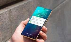 Trzy Samsungi Galaxy A z czytnikiem linii papilarnych w ekranie