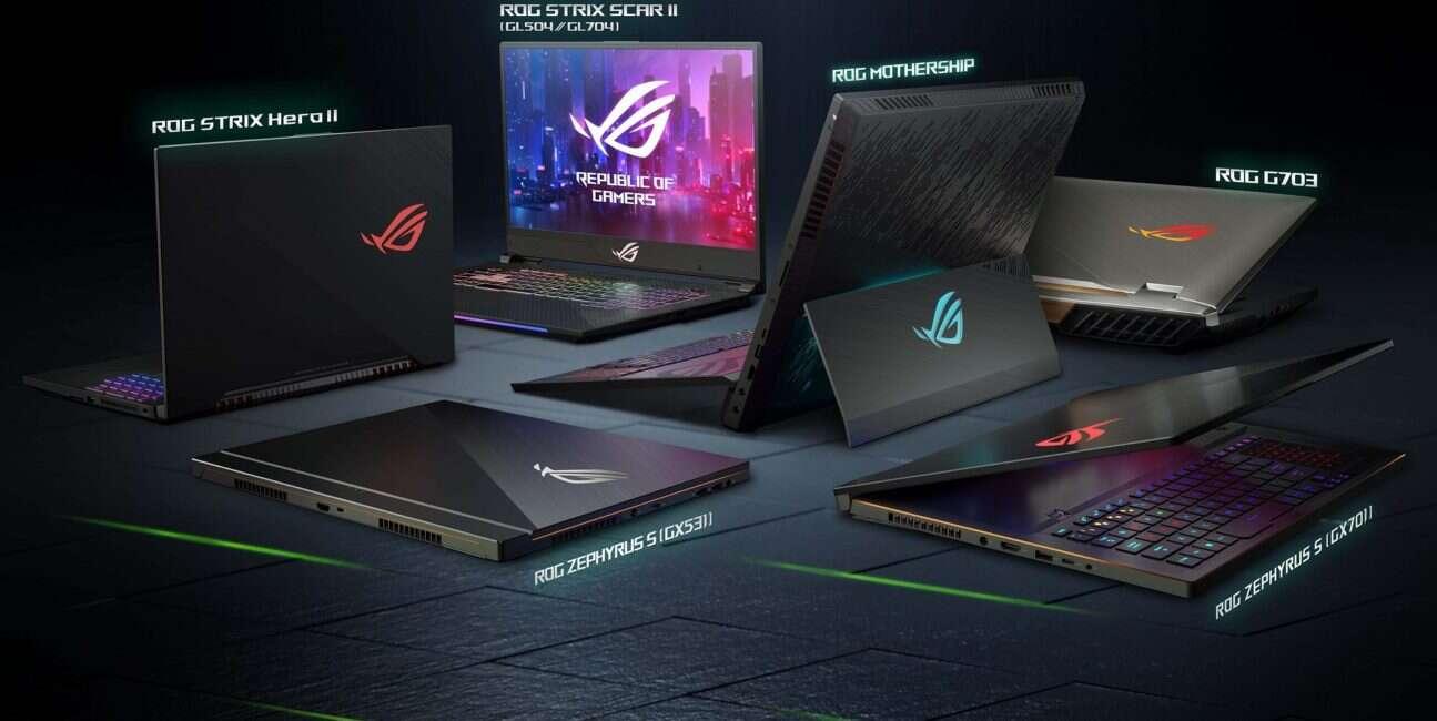 Ceny notebooków ROG ASUSa z kartami GeForce RTX